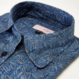 Women IRIS Folliage Blue Shirt