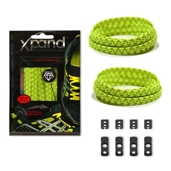 Xpand No Tie Shoelaces System with Elastic Laces - One Size Fits All Adult and Kids Shoes