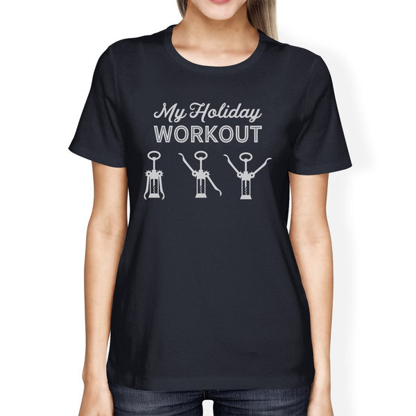My Holiday Workout Womens Navy Shirt