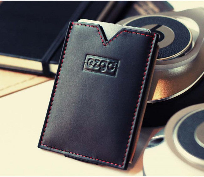 RFID protecting wallet - super slim, handmade, genuine tanned leather - FREE SHIPPING