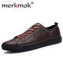 Merkmak Trendy Brand Men Shoes Casual Breathable Flats Leather For Summer Footwear Big Size 38-47 Man Soft Moccasins Wholesales