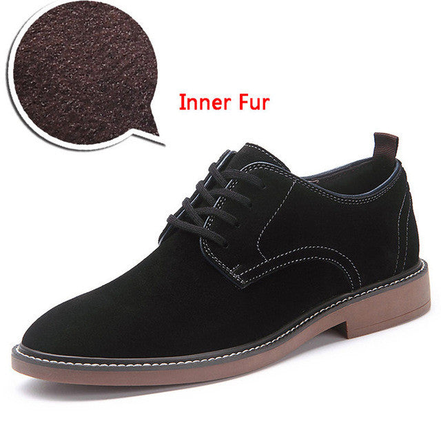 Merkmak Oxfords Men Shoes Big Size 38-46 Fashion Casual Inner Fur Men Shoes Breathable Business Driving Flats Sapatos Masculinos