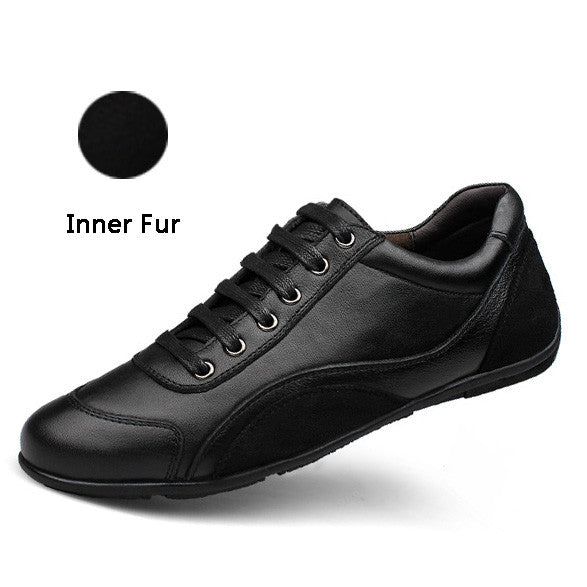 Merkmak Genuie Leather Men Shoes Fashion Brand Casual Spring Summer Breathable Holes Men Flats Shoes Casual Black Drop shipping