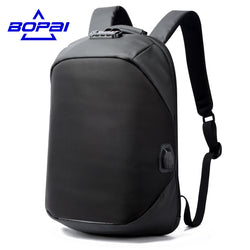 BOPAI Luxury Coded Lock Backpack for Travelling Business Men's USB Charge Port Backpack Anti Theft Women Backpack Waterproof