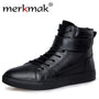 Merkmak Big Size 36-48 Autumn Winter Warm Fur Men Boots Top Quality Handsome Comfortable Brand Genuine Leather Casual Boots