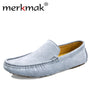 Merkmak Luxury Brand Fashion Soft Moccasins Men Loafers High Quality Genuine Leather Shoes Mens Flats Suede Driving Shoes