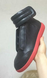 Futuristic High-Top Shoes for Men Red | White | Gold | Black