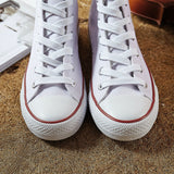 High Quality Men Canvas Shoes - Black White