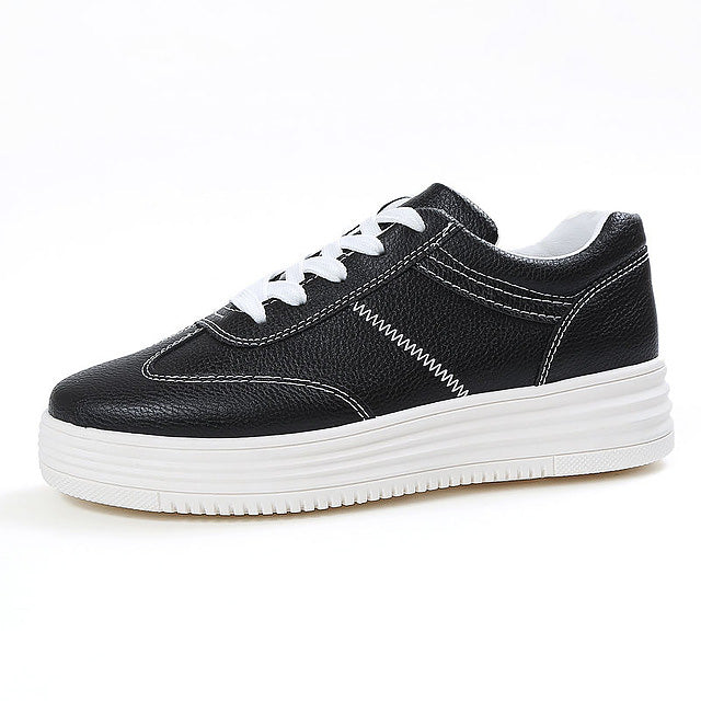 Fashion Causal Shoes for Women PU Leather Flat White High top sneakers