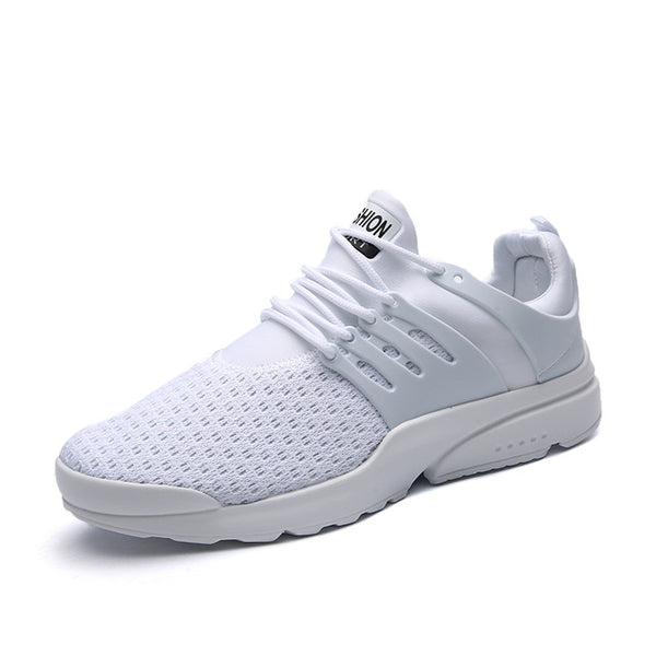 Mesh White Shoes - Comfortable Light weight Casual
