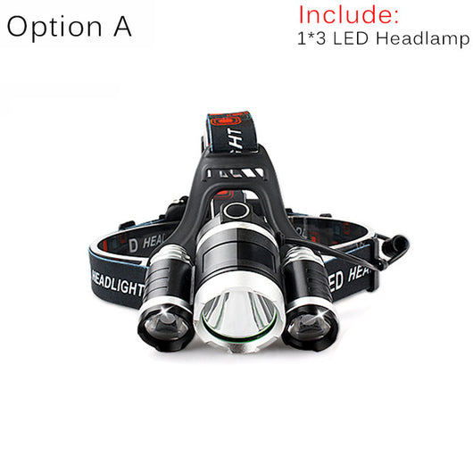 LED Headlamp Rechargeable Cycling Headlight 4 Mode