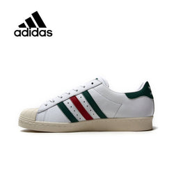 Genuine Unisex Adidas Sneakers Originals Red Green Stripe Sports Skateboarding  Shoes PU Low-tops Adidas c1b8fdc318ce