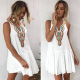 Hot Stylish Summer Fashion Sleeveless V-Neck Party Beach Mini Dress