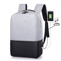 Men's laptop backpack anti-theft backpack USB charging