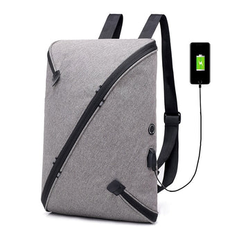 2018 Multifunction USB charging Men 15.6inch Laptop Backpack
