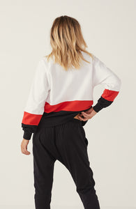 Splice Sweater - White/Red