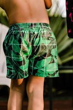 Load image into Gallery viewer, Jungle Grid Swim Shorts Kids