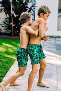 Jungle Grid Swim Shorts Kids