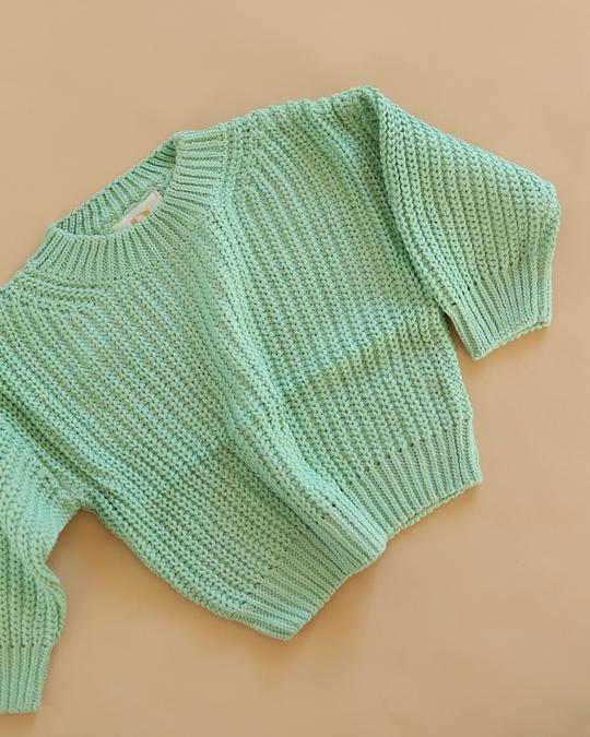 Chunky Knit in Mint