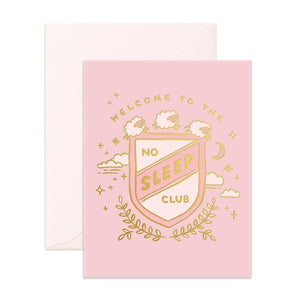 No Sleep Club Pink Greeting Card
