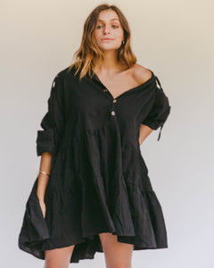 Avalon Smock Dress in Jett