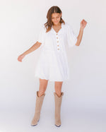 Load image into Gallery viewer, Nikita Tiered Dress in White