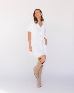 Nikita Tiered Dress in White