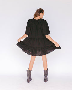 Nikita Tiered Dress in Jett