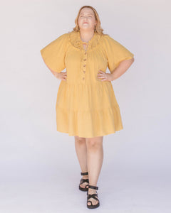 Nikita Tiered Dress in Marigold
