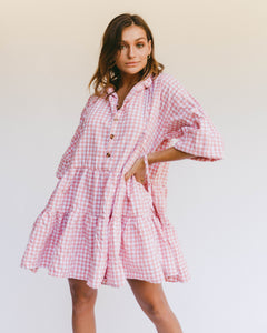 Avalon Smock Dress in Candy Gingham