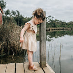 Load image into Gallery viewer, Monterosso Kids Sandal in Camel Spot
