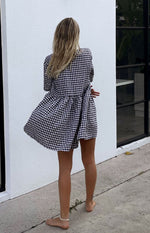 Load image into Gallery viewer, Darcey Gingham Dress in Black