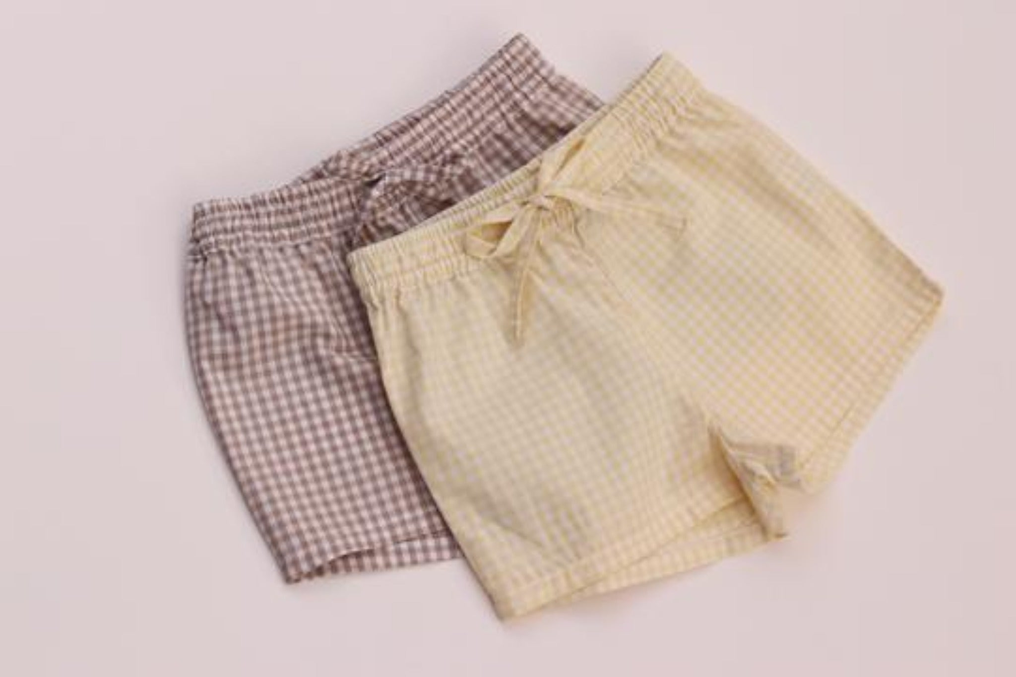 All Day Short in Cotton Gingham