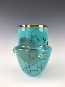 Inclusion Vase - Turquoise