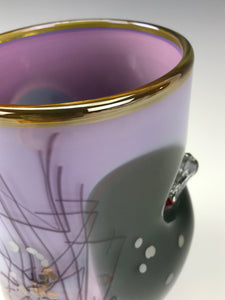 Inclusion Vase - Purple Rose