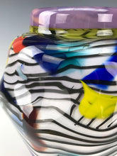 Load image into Gallery viewer, Psycho Zebra Vase - Lilac Interior