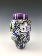 Load image into Gallery viewer, Psycho Zebra Vase - Purple Interior