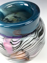 Load image into Gallery viewer, Psycho Zebra Vase - Teal