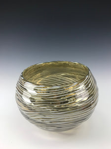 Oasis Bowl (Lg) - Iris Clear/White Lines