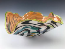 Load image into Gallery viewer, Psycho Zebra Fluted Bowl