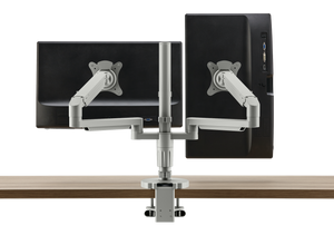 Pivot Post Monitor Arm - Double Arm