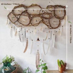 Giant dream catcher 43 inch wide ideal for the head of the double bed