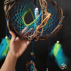 Orb Dream Catcher Healing Stone, orbital 3D dream catchers custom crystals and rocks