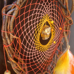 Dream catcher wall hanging Orange Yellow, Catcher Chakra Stone, Dreamcatcher Colors Feathers, Custom