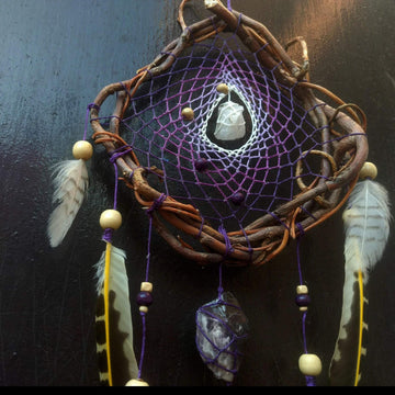 Crystal dream catcher, Dreamcatcher with stone, Dreamcatchers hanging wall