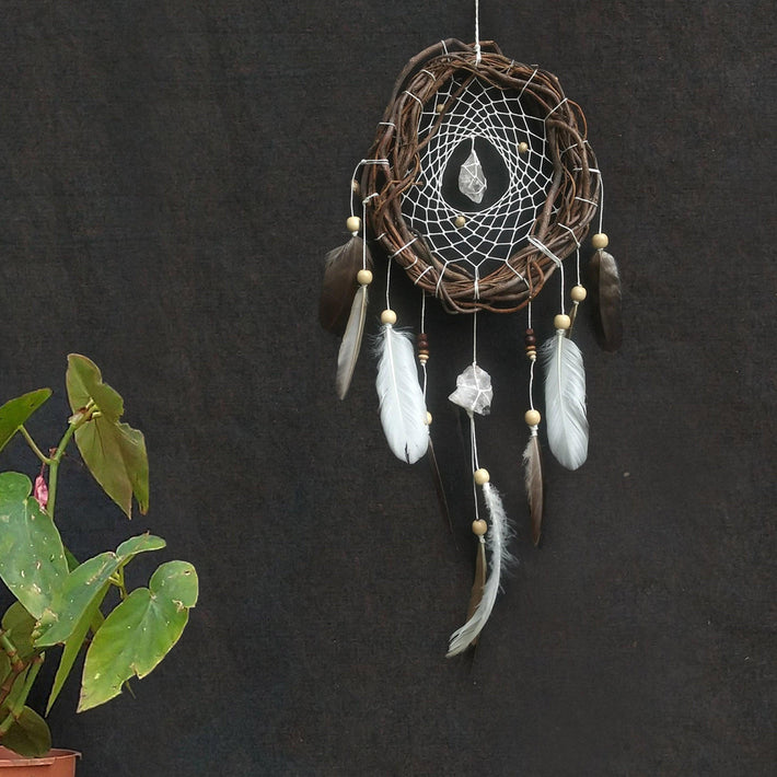 Dream catcher, dream catcher wall hanging, crystal wall hanging