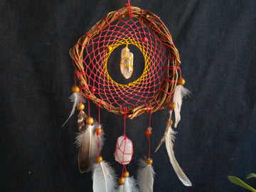 Dream Catcher energy boost, Optimism dreamcatcher Vitality,  healty gift, elements fire earth