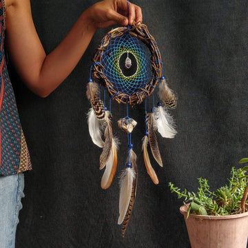 Dream catcher made with love, Nursery dreamcatcher