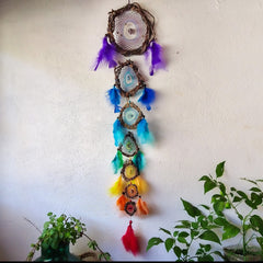 Yoga decor for home, Chakra wall hanging, Hippie new age home decor, Meditation art