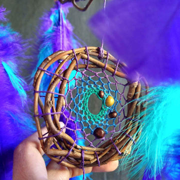 Mobile dream catchers, sphere decor, 3d orb dreamcatchers, bohemian and nature